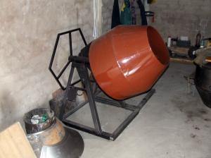 Самостоятельное изготовление бетономешалки