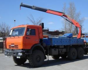 кран-манипулятор на базе КамАЗ-43118