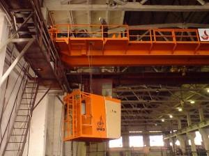 монтаж кабины мостового крана