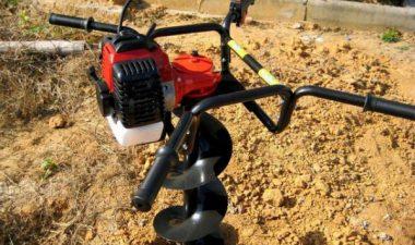 мотобур для земляных работ своими руками