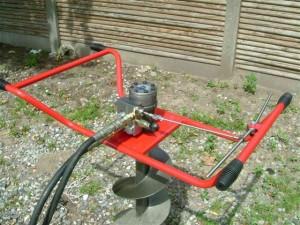 самодельный мотобур для земляных работ