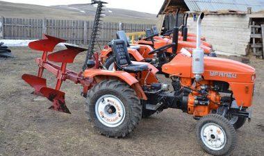 Мини-трактор Уралец 220 с прицепным оборудованием