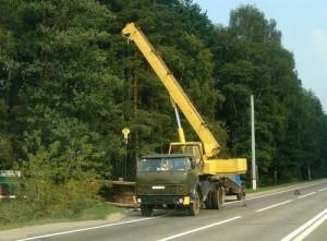 автомобильный кран Ивановец на шасси МАЗ-5334
