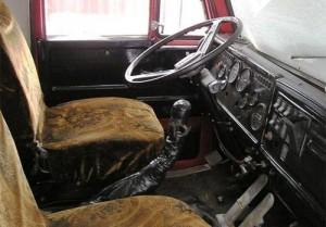 интерьер кабины КамАЗа-5410