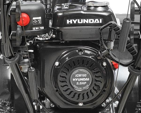 силовая установка снегоочистителя Хендай 5555 модели