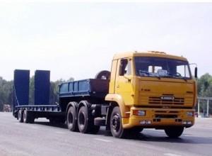 грузовой автопоезд в составе КамАЗ-65116