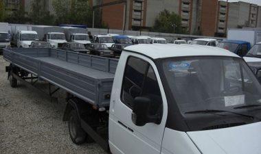 автомобиль ГАЗ-3302 с длинным прицепом