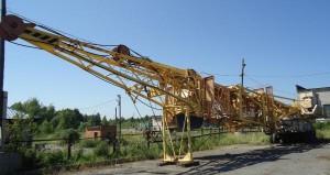 строение башенного крана КБ 405