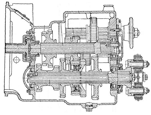 коробка передач трелевочного трактора ТДТ-40