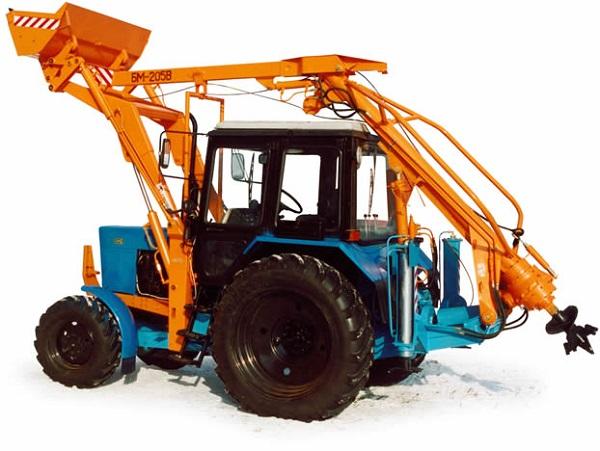 БМ-205-В установленная на трактор МТЗ