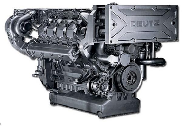Вид дизельного двигателя для асфальтоукладчика Vogle Super 1900-2