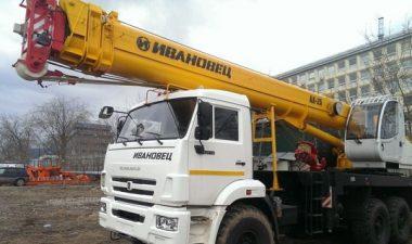 25-тонные автокраны «Ивановец»: основные технические характеристики