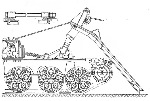 Погрузочное устройство трактора ТДТ-75